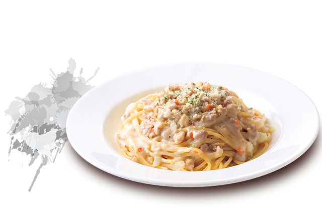 pasta-with-chiken-in-cream-meat-sauce